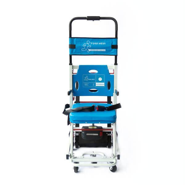 """כסא חשמלי למדרגות משמש תחליף למעלון וזחליל - מיוצר ע""""י חברת הכסא המוביל בע""""מ"""