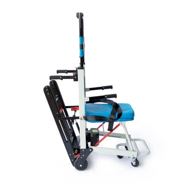 """כסא חשמלי למדרגות מתאים לחדרי מדרגות צרים - מיוצר ע""""י חברת הכסא המוביל בע""""מ"""